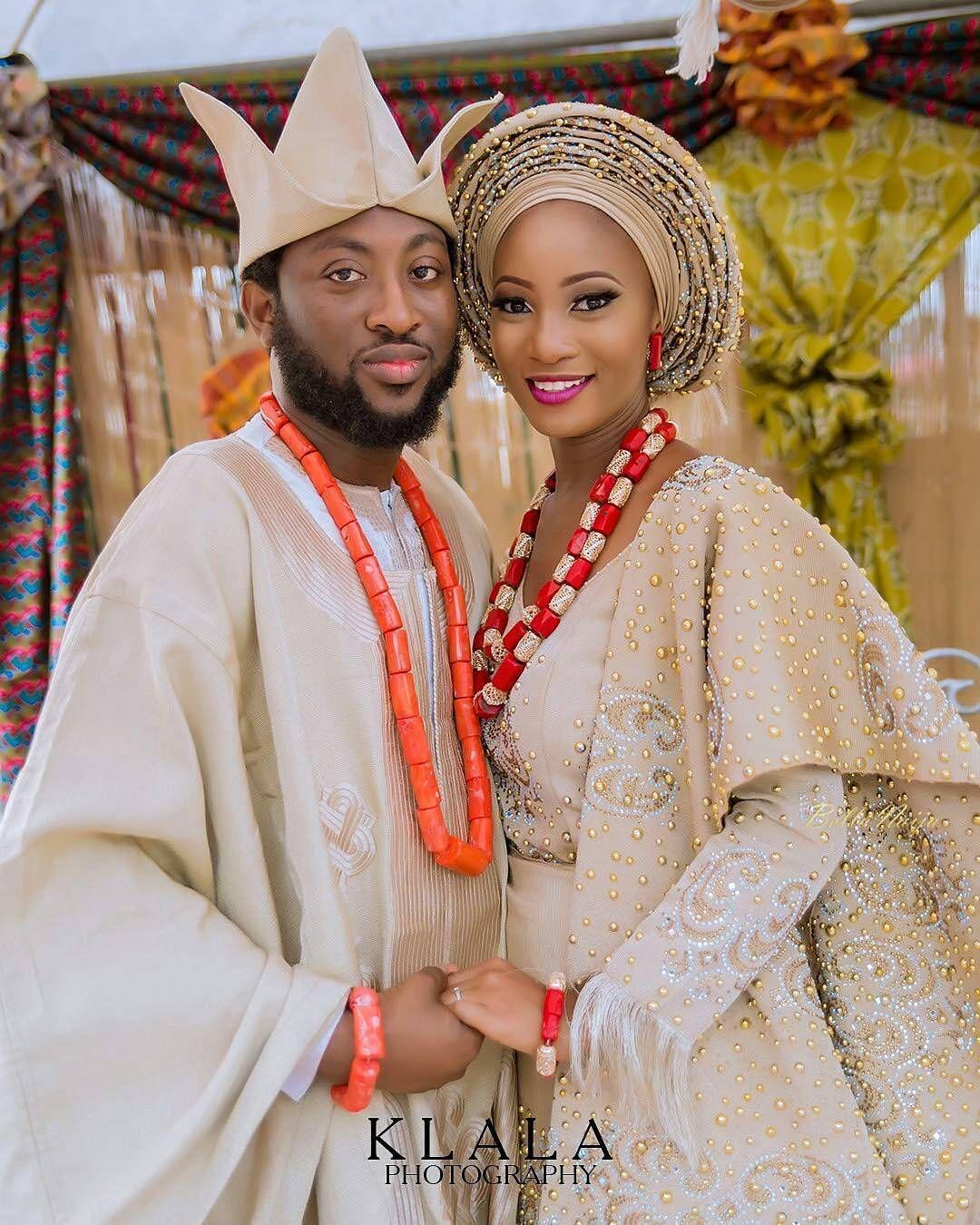Traditional wedding attire when a fine yoruba gentleman marries his