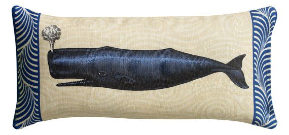 Blue Nautical Maine Whale Sachet Filled with by LeslieEvansDesigns, $22.00