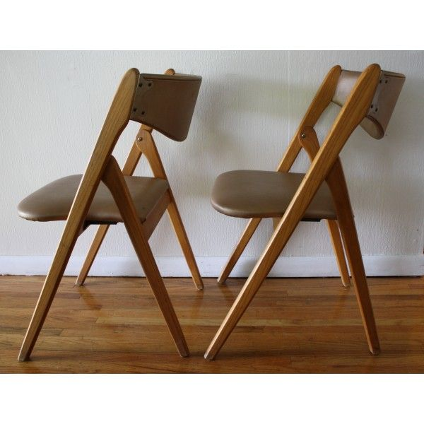 Mid Century Modern Coronet Folding Chairs With Images Folding