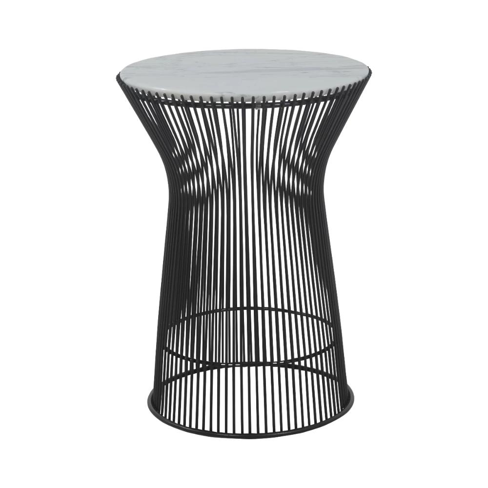 Carrara Marble Platner Side Table Jet Black In 2020 Black Side Table Side Table White Marble Side Table