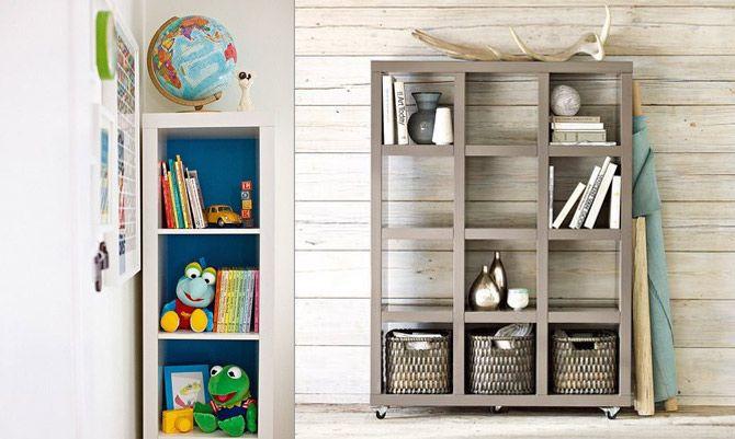 Expedit Ikea Hack otevřené boxy místo nábytkové stěny a polic ikea expedit ikea