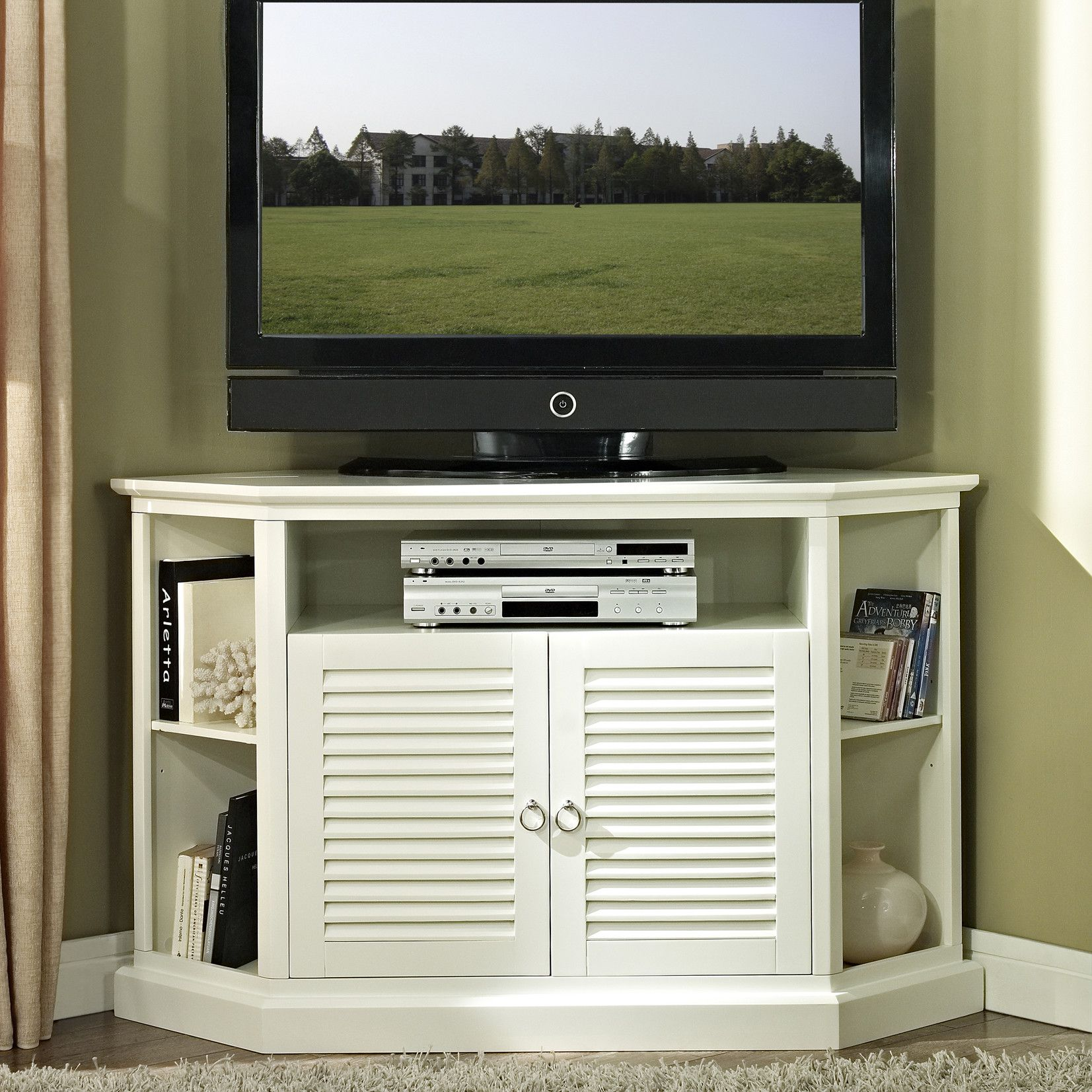 New Canaan Tv Stand By Breakwater Bay Corner Tv Stand Accommodates