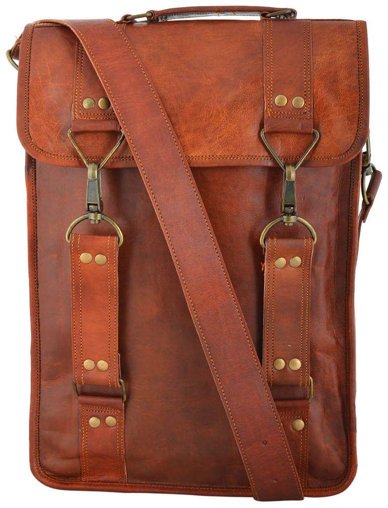 leather MENS BAG Christmas Gift Goatstuff real vintage bag-messenger  satchel 15