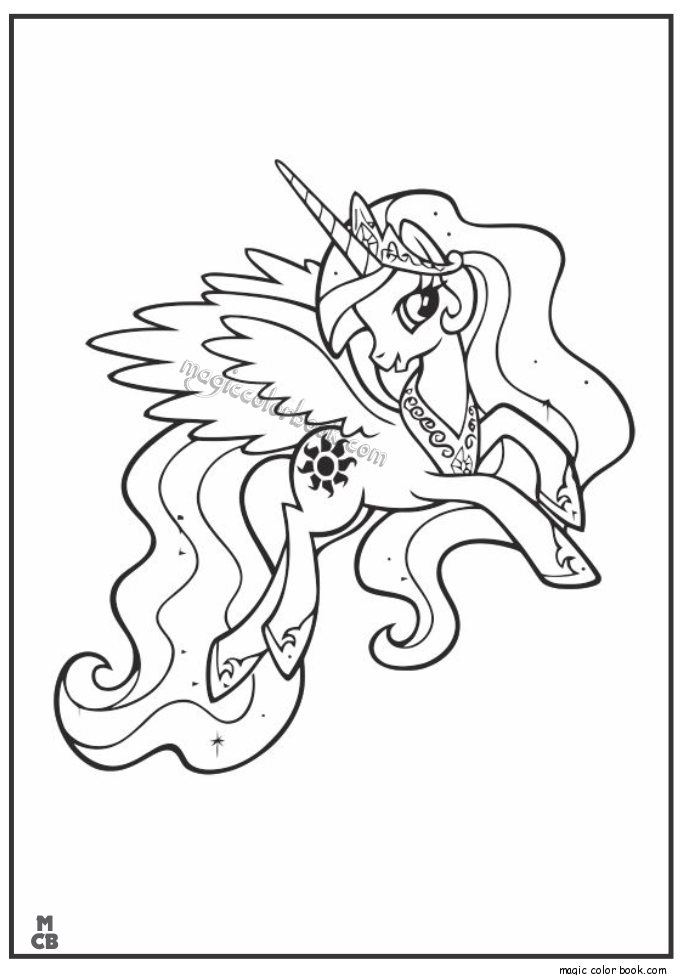 Pin von Magic Color Book auf My little Pony Coloring pages free ...