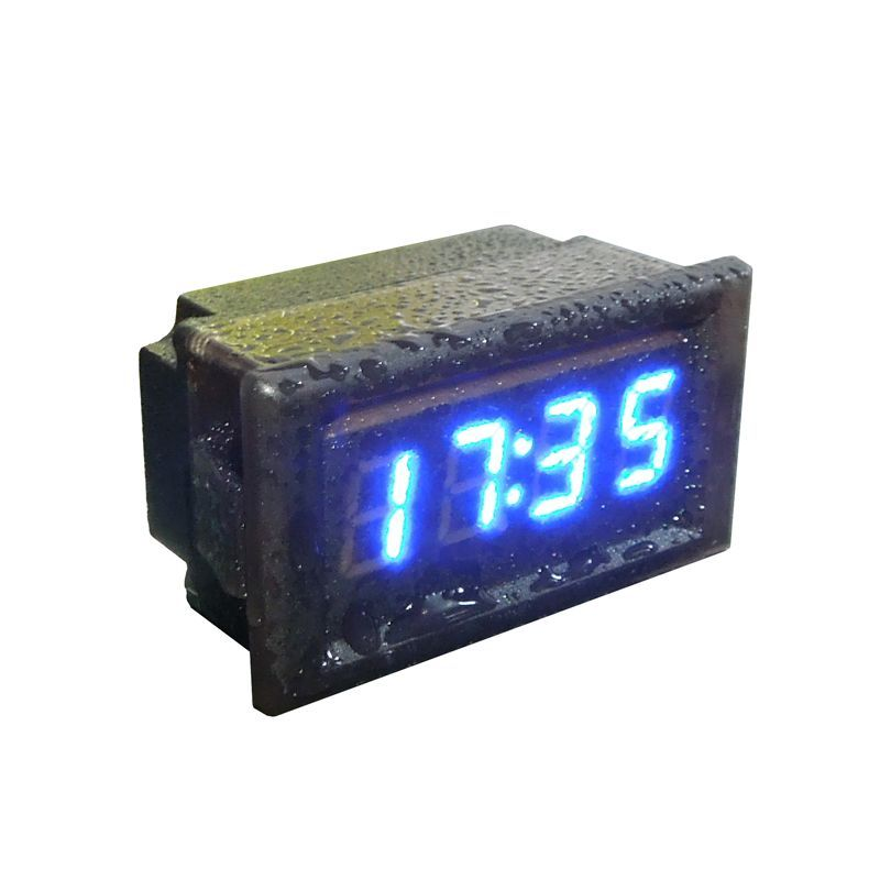 Hot Selling Universal Waterproof Car Motorcycle Auto Accessory Dc 12v 24v Dashboard Digital Led Display Clock Car Styling Waterproof Car Clock Car Accessories