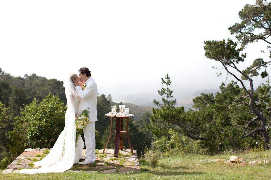 Pretty Photo Spot Point Lobos Ridge Estate Carmel California Wedding