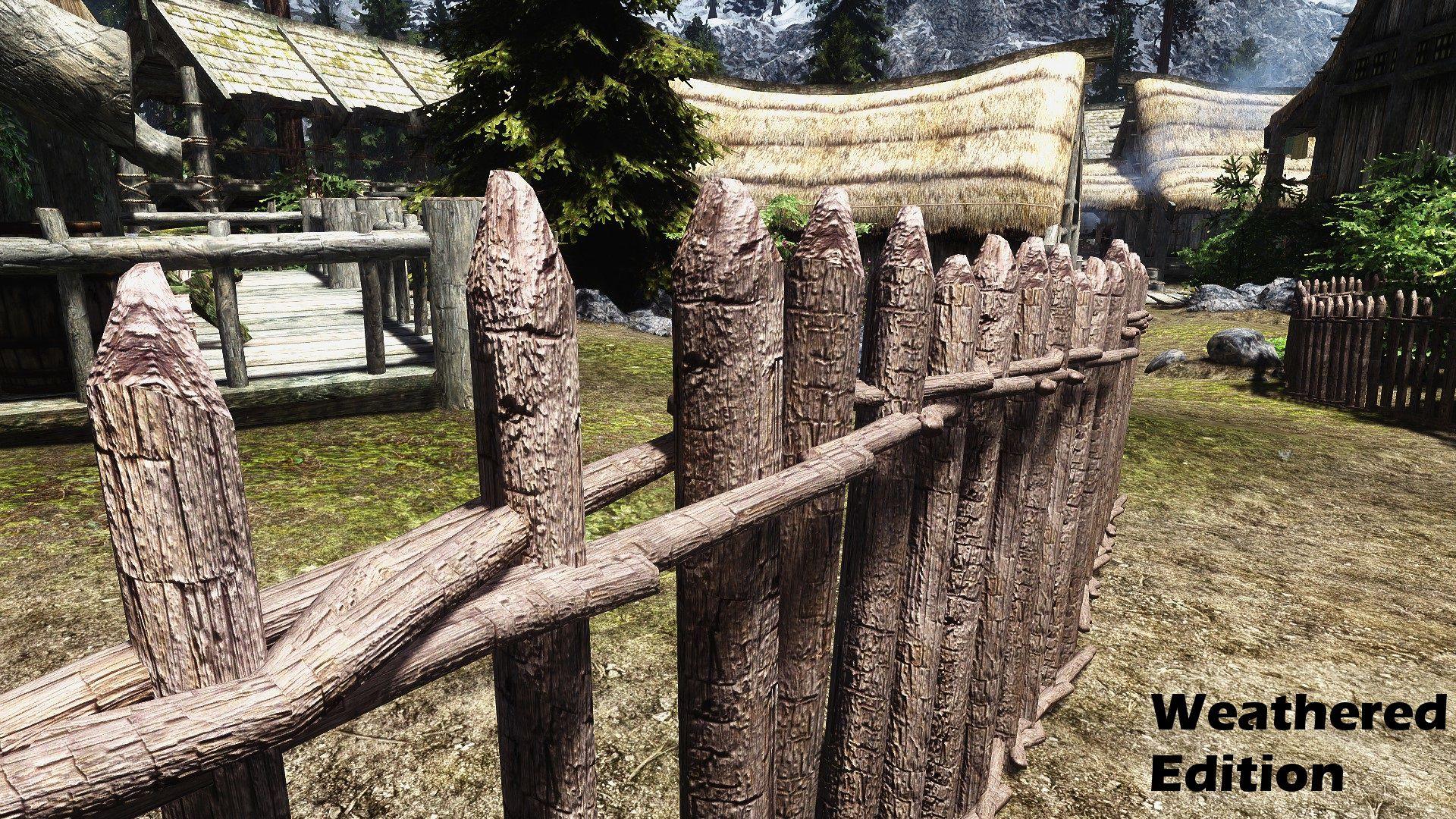 Fences of Skyrim - No more flickering fences   Skyrim SE