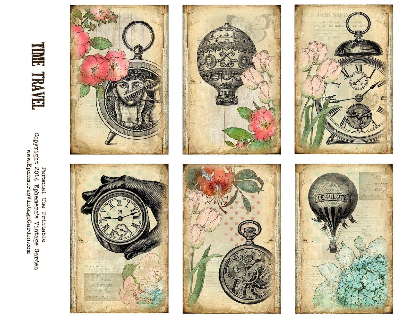 Free Printable Steampunk Journaling Cards Steampunk Cards Journal Cards Steampunk Crafts