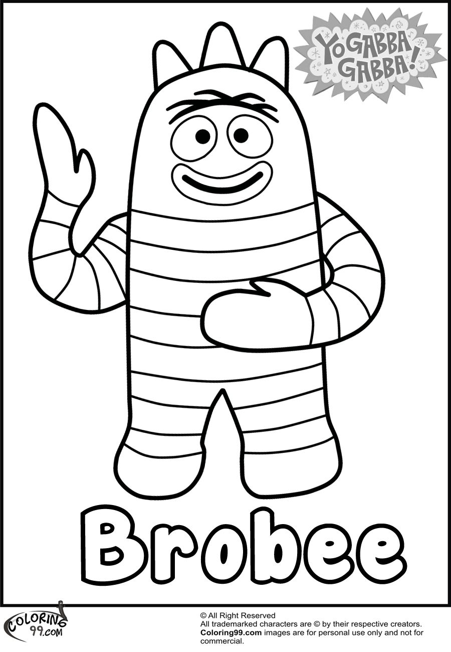 Yo Gabba Gabba Coloring Pages With Images Yo Gabba Gabba