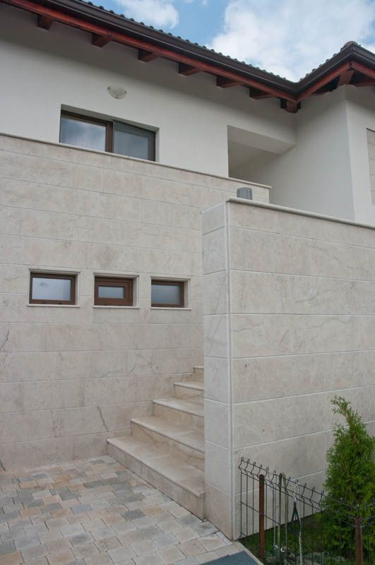 Exterior Tile Cladding : Grey limestone exterior wall cladding tiles buy