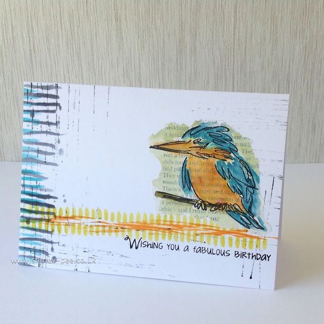 kingfisher  cards handmade stamped cards bird cards