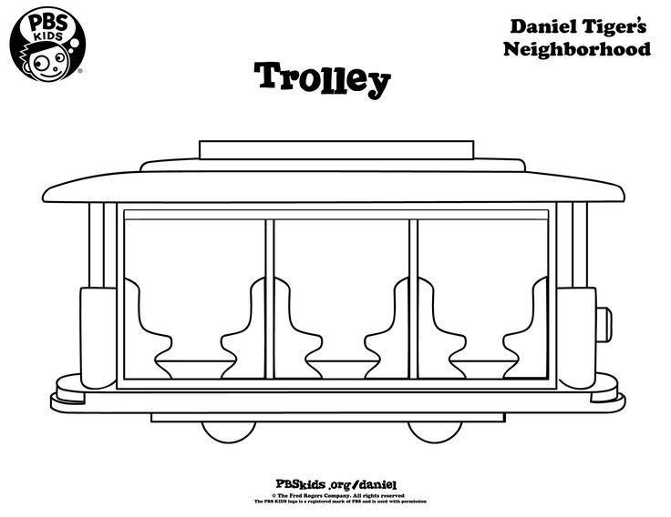 trolley daniel tiger coloring page - Google Search | Liv to Bake ...
