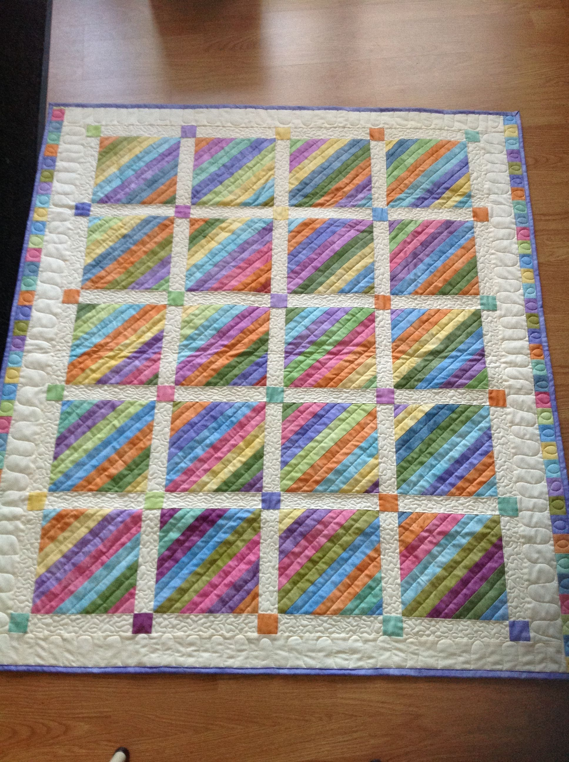 Very nice setting! #jellyrollquilts