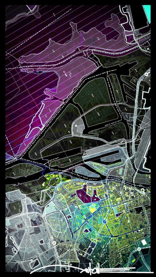 Washington Dc Popout Map%0A AUTONE  Urban planner who makes his maps look like art pieces   Amazing
