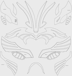 Dali lomo cosplay pinterest thor costume thor helmet and costumes thor helmet foam cut out template unfold pattern maxwellsz