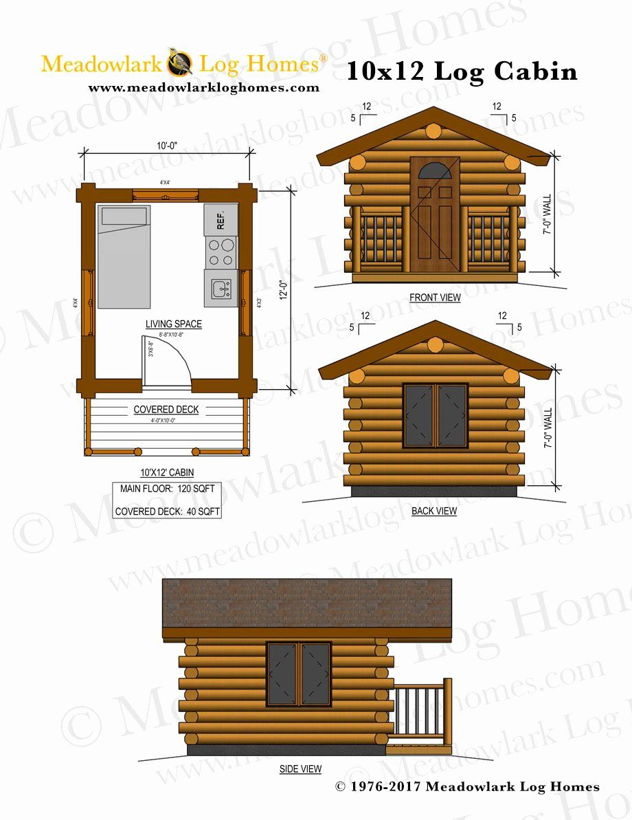 12 X 12 House Plans Inspirational Bluebird 10x12 Log Cabin Meadowlark Log Homes In 2020 Tiny Houses Plans With Loft House House Plans