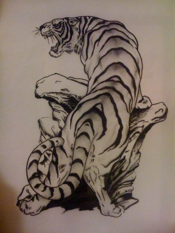 Japanese Tiger Tattoo Drawing Tattoo tiger japanese ...