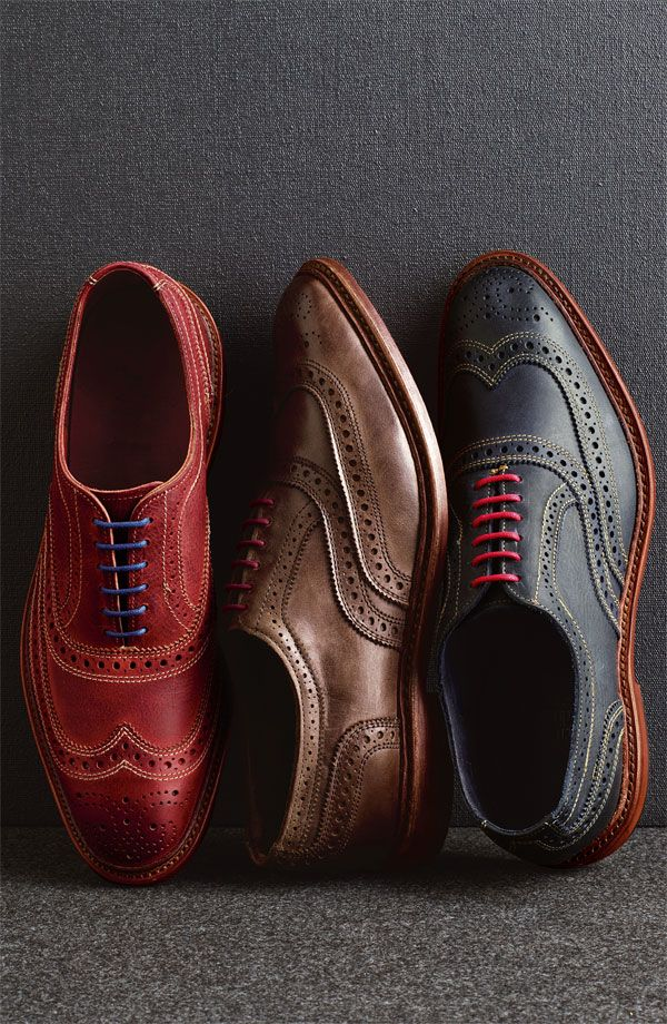 011cd338d8682 Allen Edmonds 'Neumok' brogue collection-Charles' owns the blue and brown
