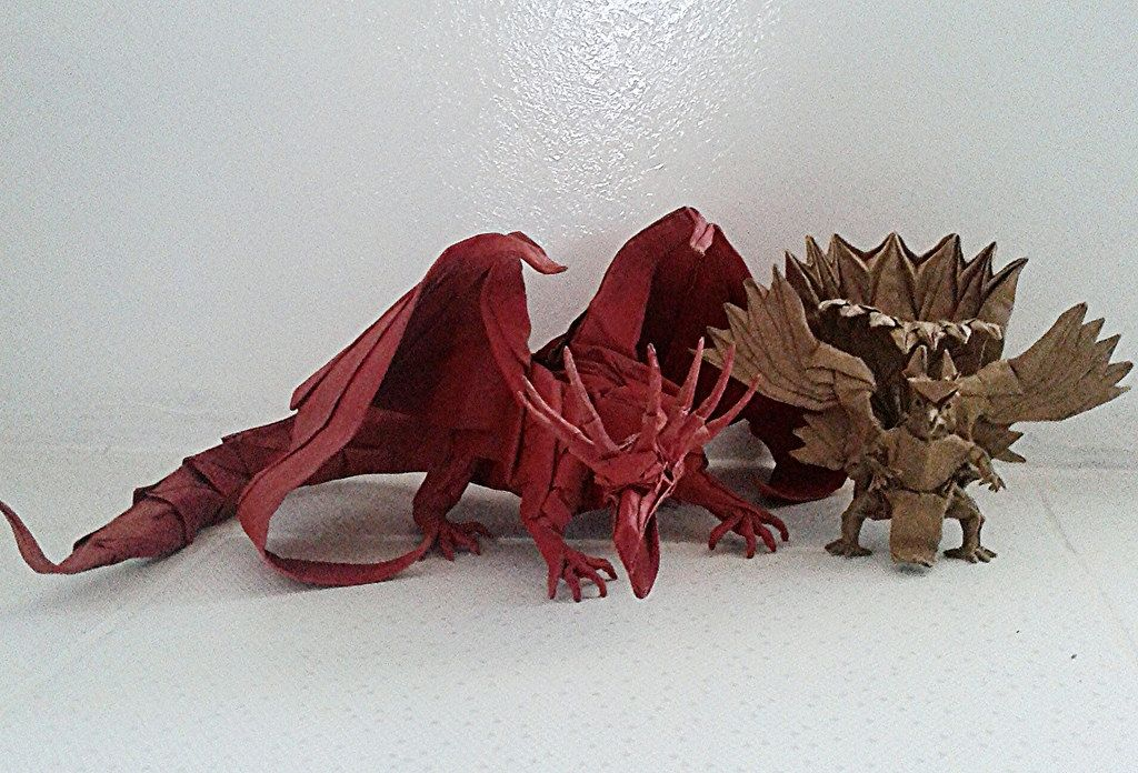 26 Advanced Origami Ancient Dragon Instructions Coloring Pages