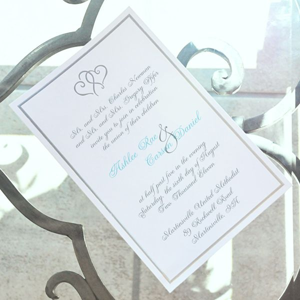 Two Hearts become one with our Platinum Hearts Invitation Kit - fresh formal invitation to judges