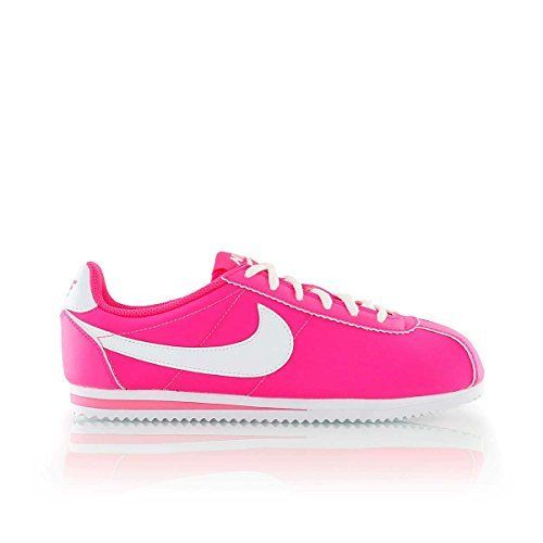 Nike Kids Cortez (PS) Running Shoe (Pink White, 2.5Y).