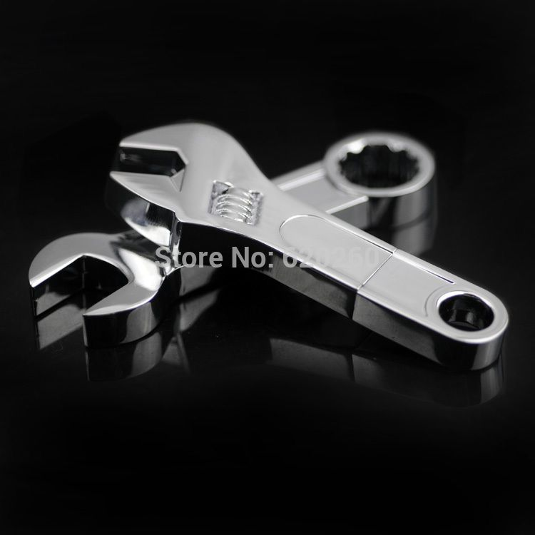 WooTeck 32GB Metal Wrench USB Flash Drive Pendrive Silver