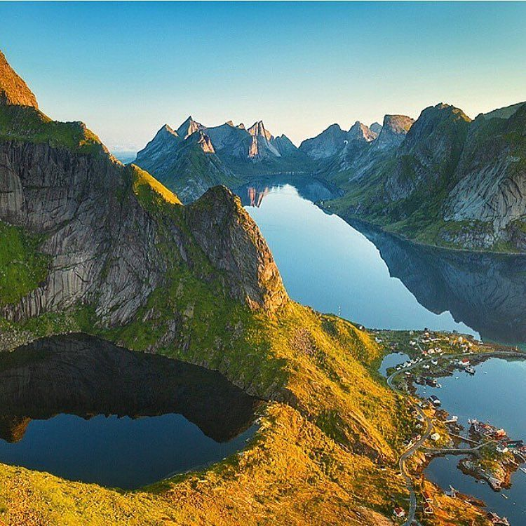 Golden hour in the Lofoten Islands  Photo: @alexnail #wildernessculture by wilderness_culture