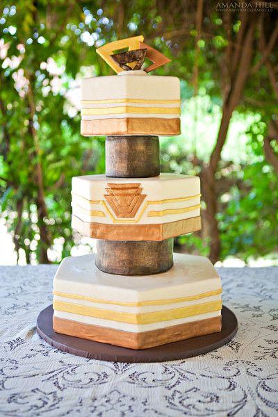 1920's inspired Art Deco Cake
