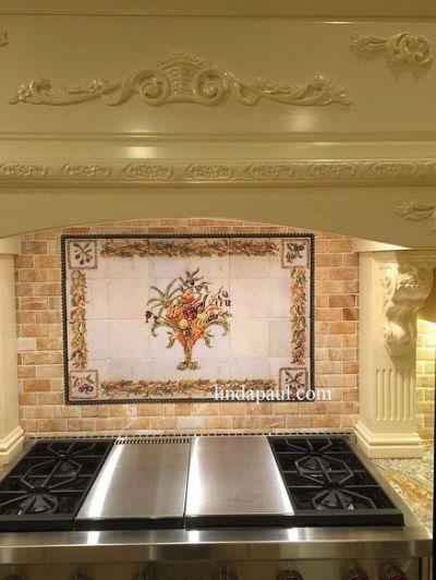 Kitchen Backsplash Murals Mosaic Kitchen Tile Mural Backsplash