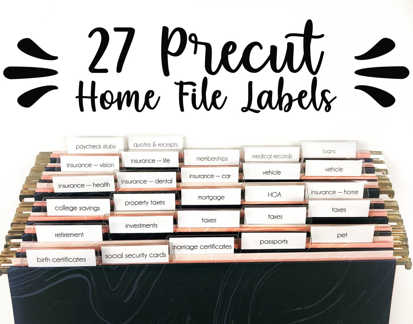 Precut Home Filing System Labels Home Office Home Organization Organize Home Storage File Cabinet File Storage Home Filing System File Folder Labels Folder Labels [ 1248 x 1588 Pixel ]
