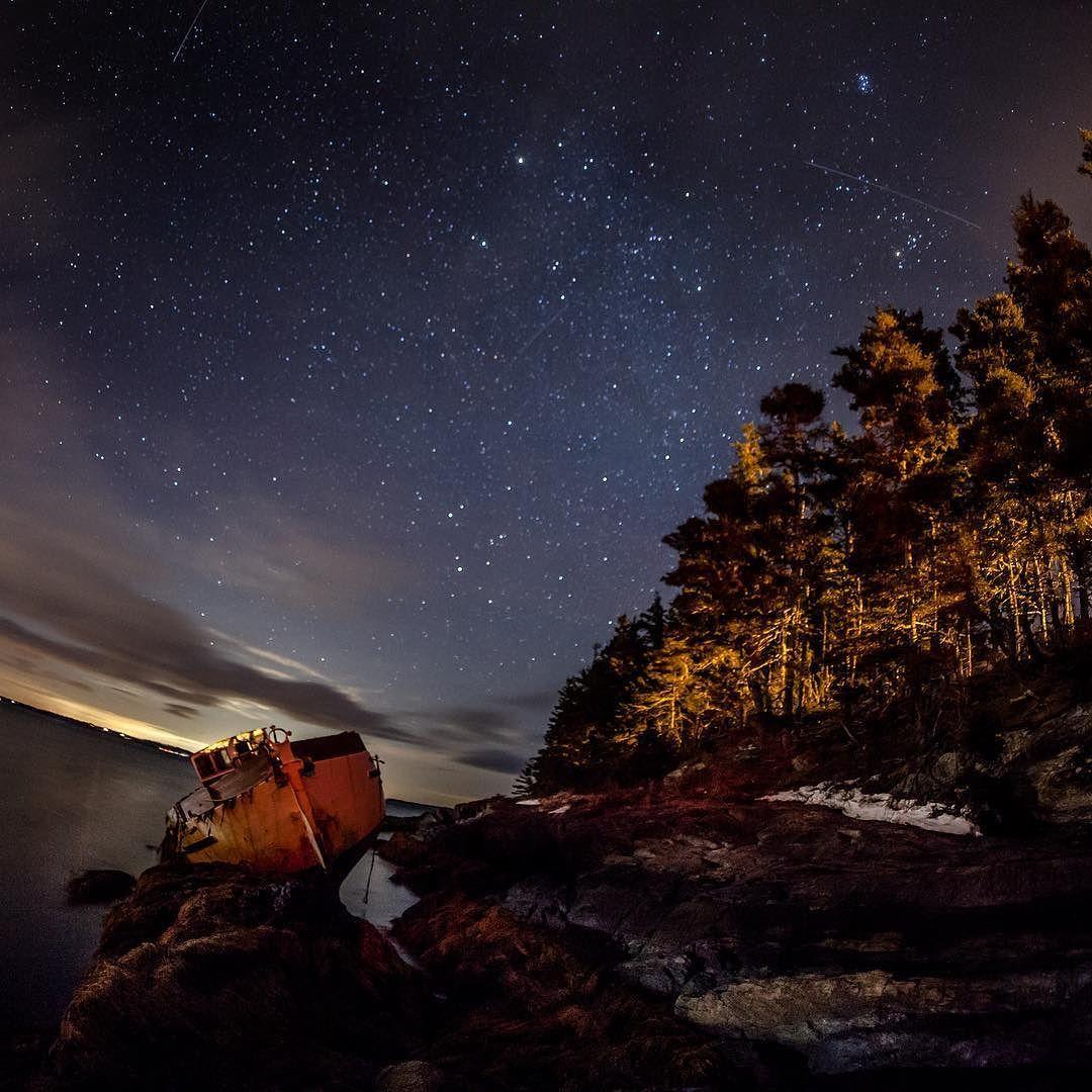 A few comets flying over a wreck upon the rocks. #astrophotography #nightscape #night #stars #wreck #shipwreck #sailboat #sail #eastcoast #novascotia #canada #coastline #canon_photos #photos_canon #comet #sky #atlantic #atlanticocean #ocean #imagesofcanada #explorens #explorecanada #explorenovascotia #visitnovascotia by eastcoastkid03