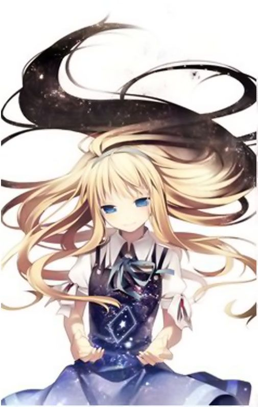 Image Result For Cute Anime Blue Girl With Blonde Hair And Blue