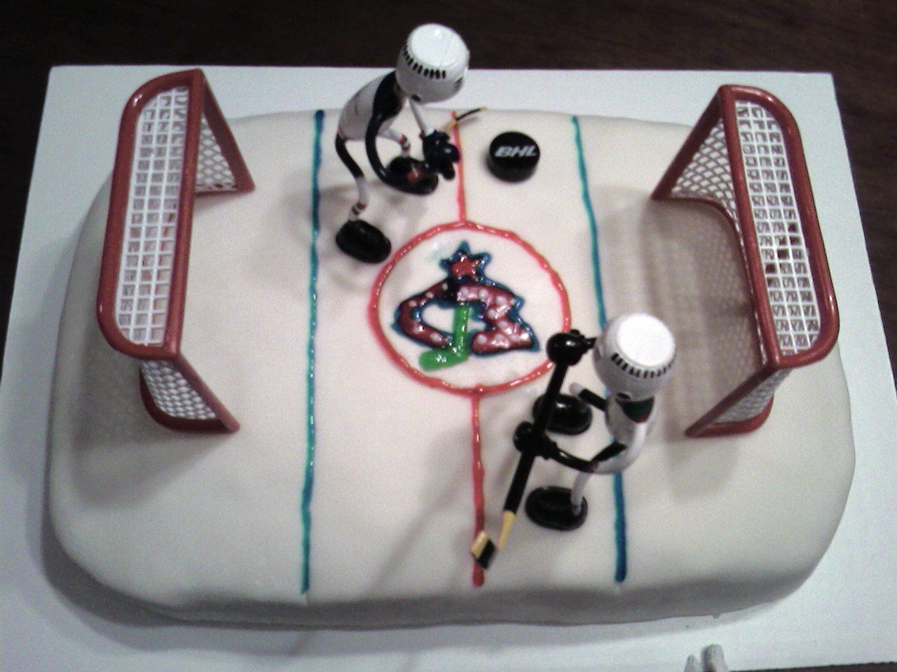 Columbus bluejackets hockey cake cake hockey cakes