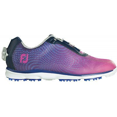 Golf Shoes 181147  New Womens Fj Footjoy Empower Boa Ladies Golf Shoes  98004 Navy Plum Choose Size -  BUY IT NOW ONLY   74.95 on eBay! e1dcb0ad7