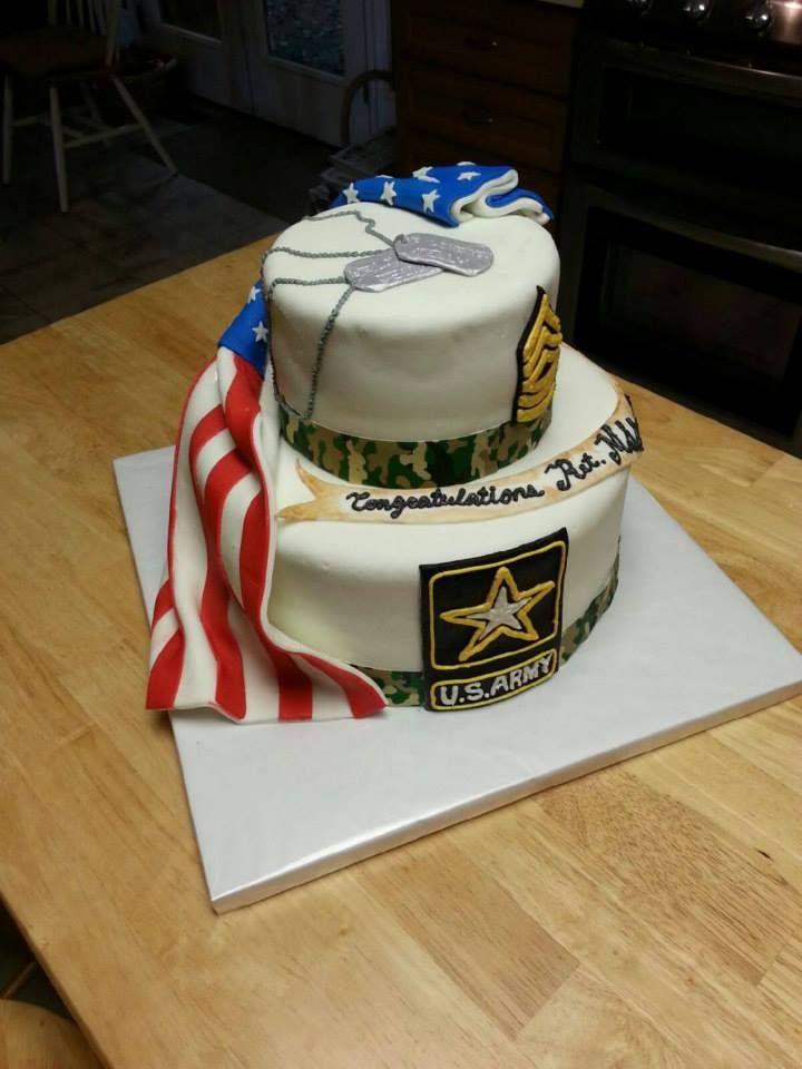 Army Retirement Cake 1 Army Retirement Military Cake