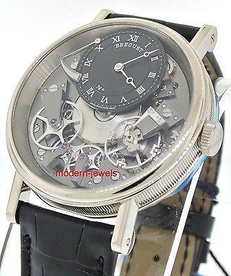 Breguet La Tradition 18k White Gold Manual Skeleton 40mm Watch 7057BB/G9/9W6 !