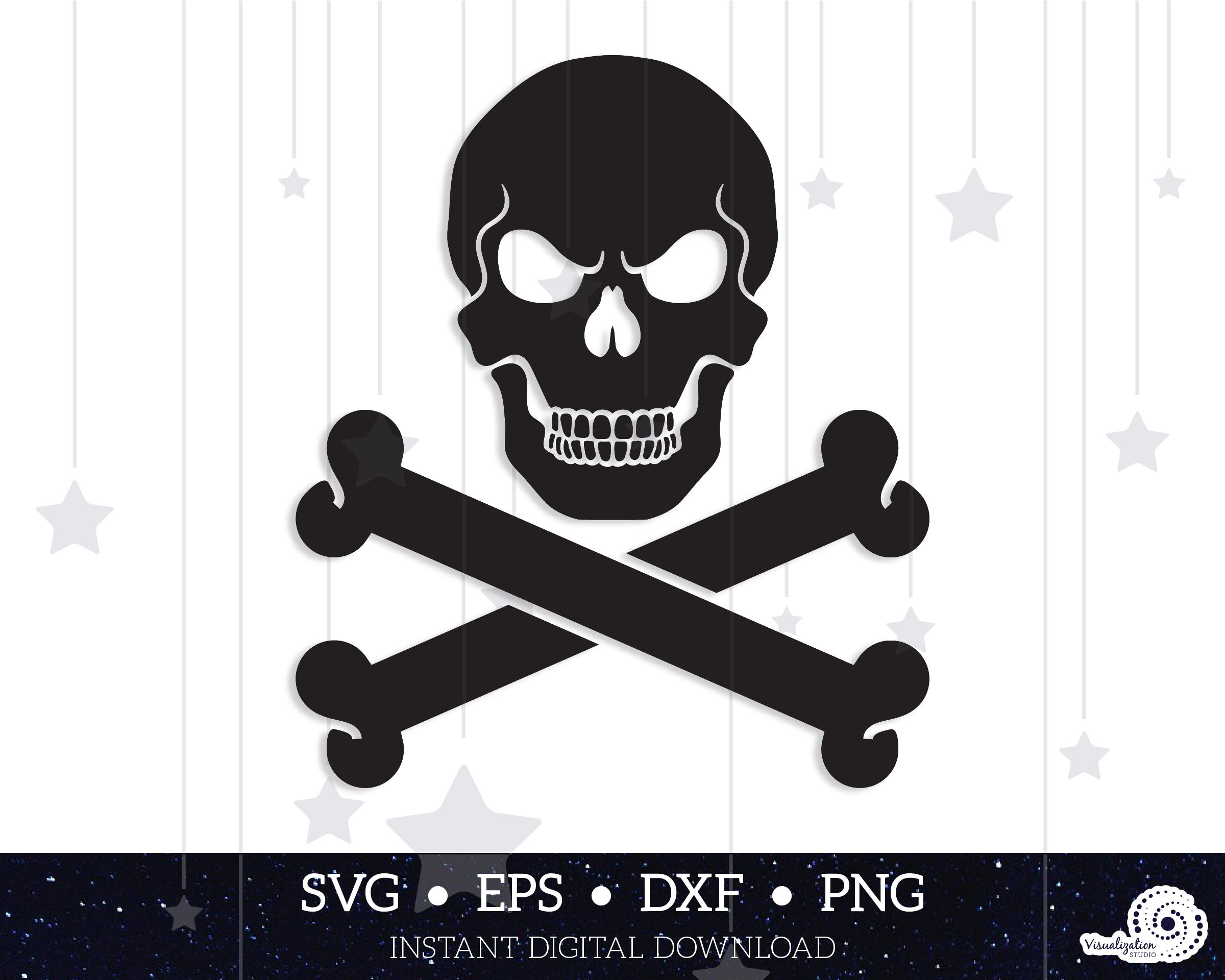 View Skull & Crossbones Set – Svg, Dxf, Eps, Png Cutting Files Design