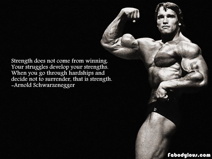 Arnold Schwarzenegger quotes The Meaning of Life Fitness - new arnold blueprint app