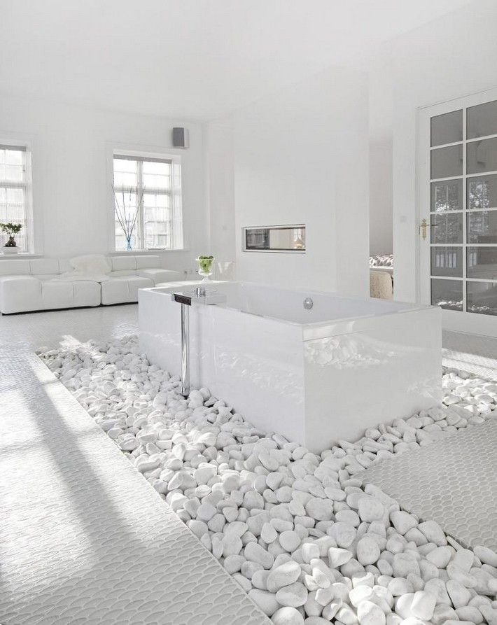 Beautiful White Spa Bathroom Ideas With
