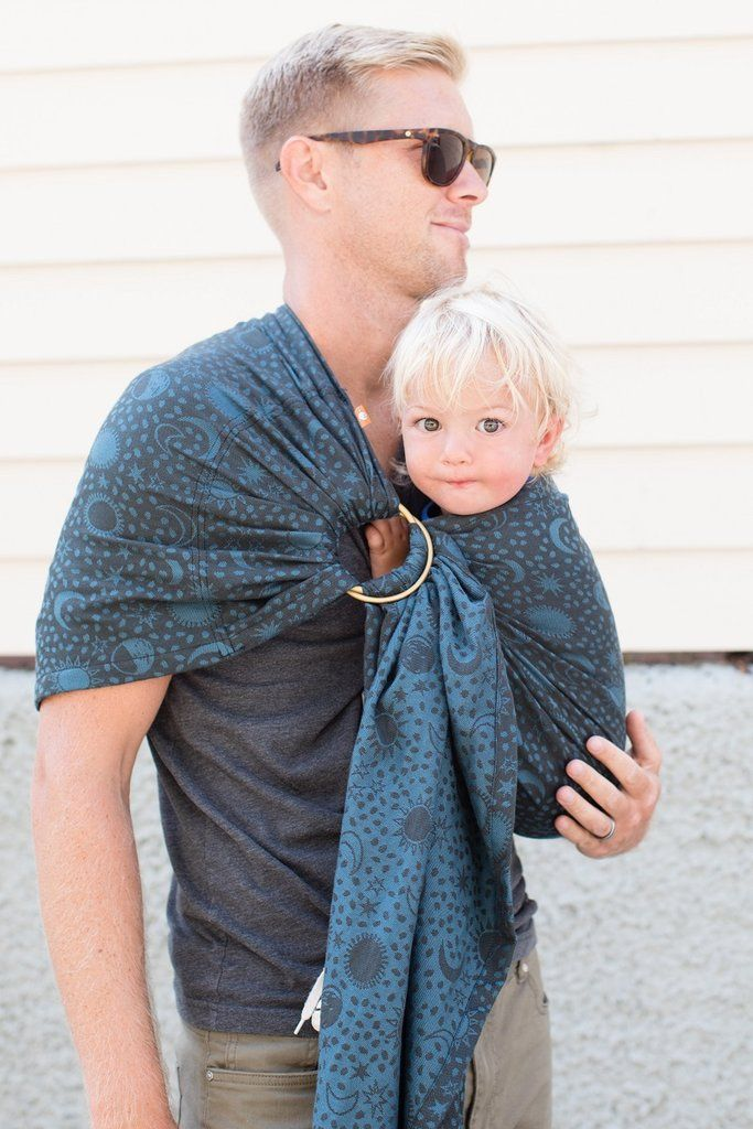 Blue And Black Stars And Moons Baby Carrier Celestial Balsam