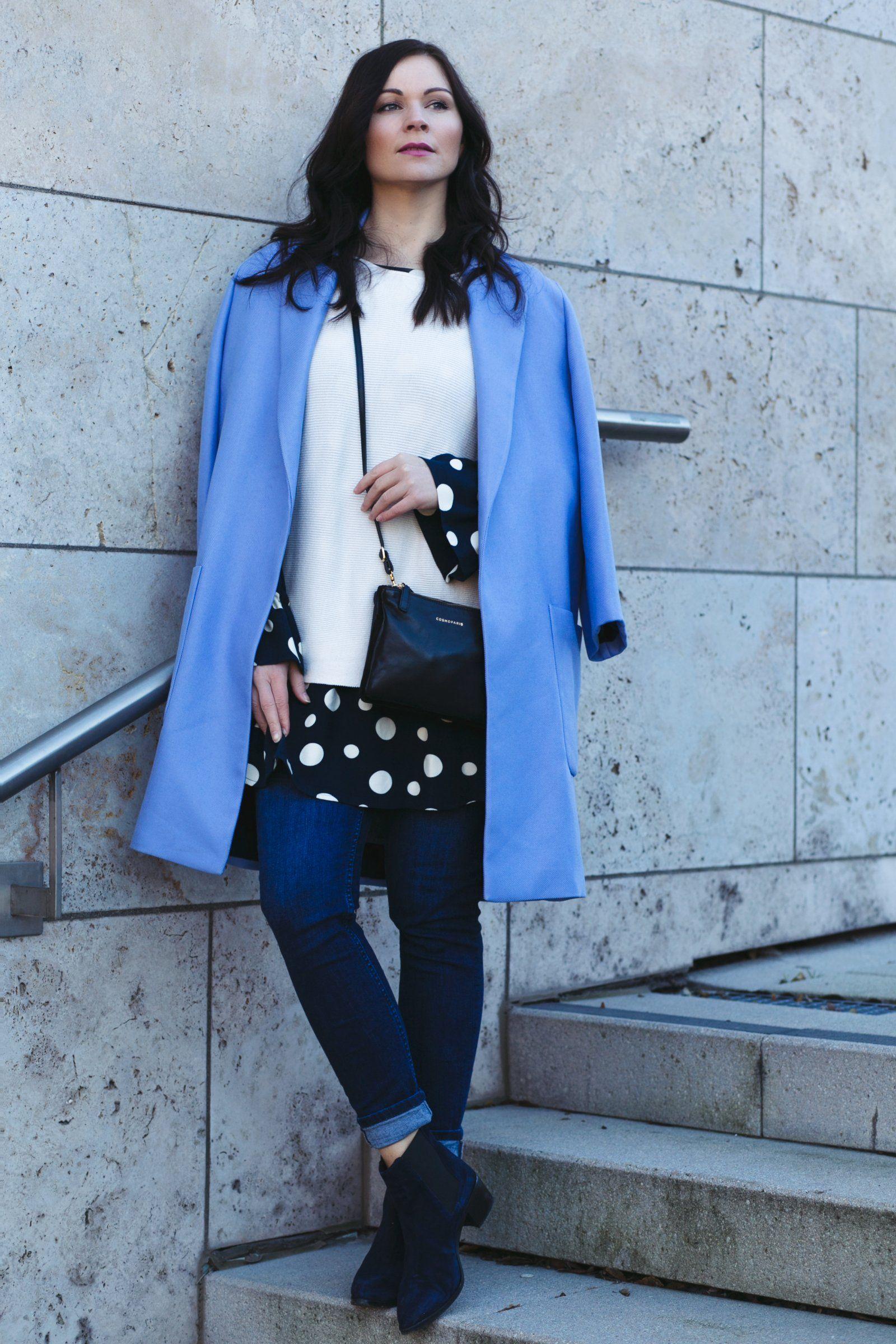 Outfit Mantel TascheBlauem Mit Und Cosmoparis Tajou 8NnOXPk0w