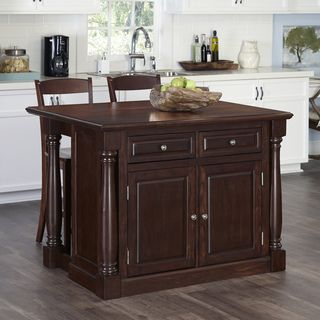 Monarch Kitchen Island And Two Stools Wood Kitchen Island Kitchen Island With Seating