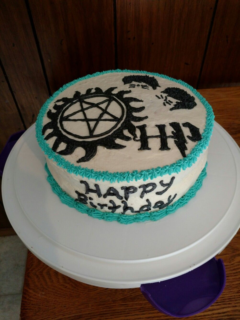 Supernatural Dan Phil Harry Potter birthday cake cakes