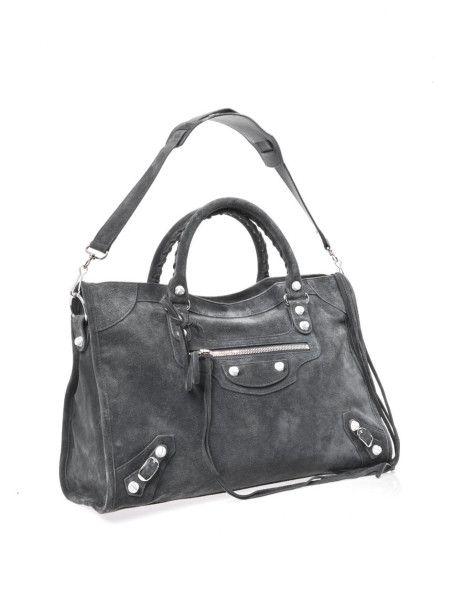 55566ad1492 Women's Gray Suede Marble Stud City Bag   Wish List: Fashion ...