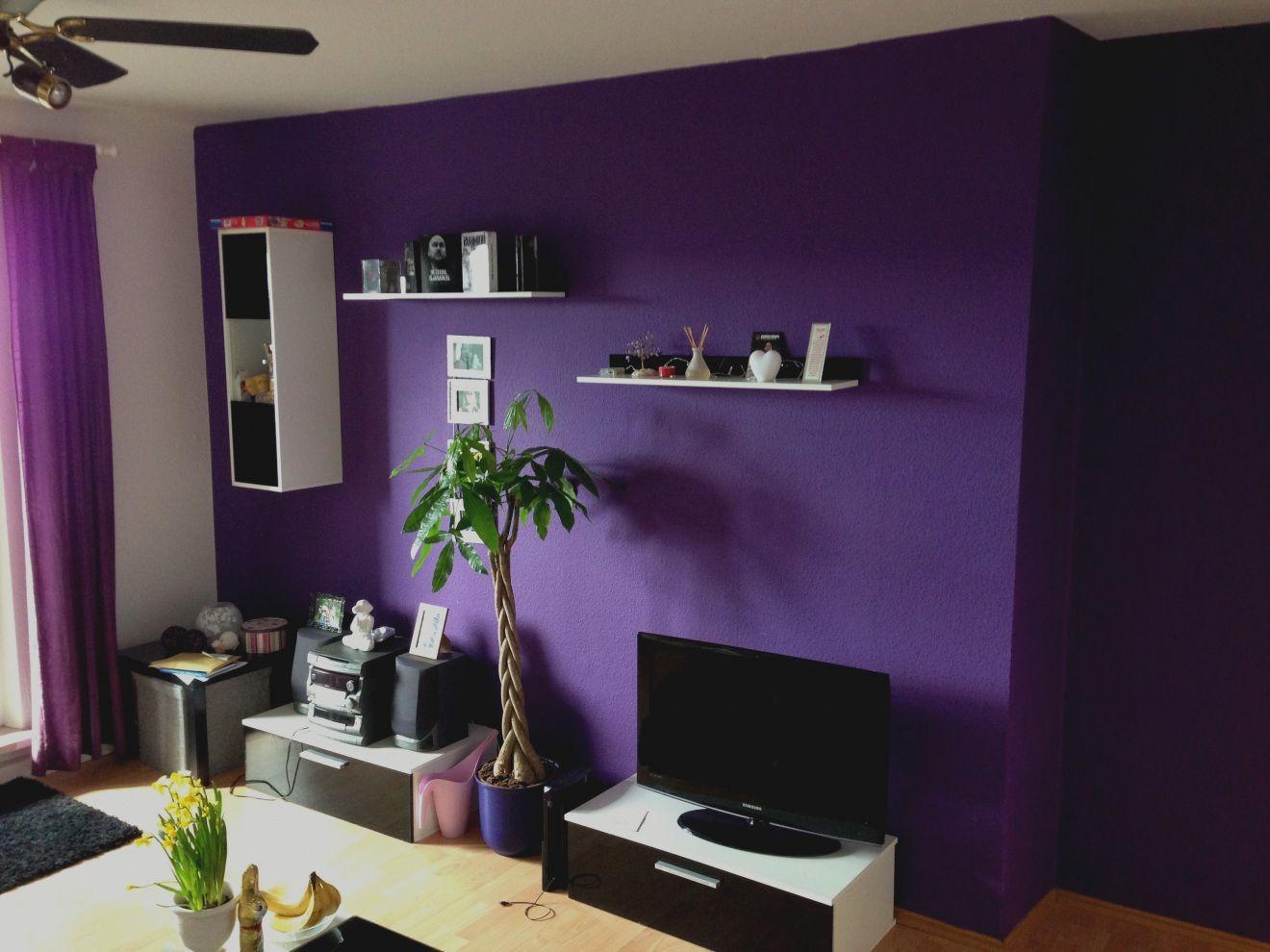 Wohnzimmer Farbe Grau Lila