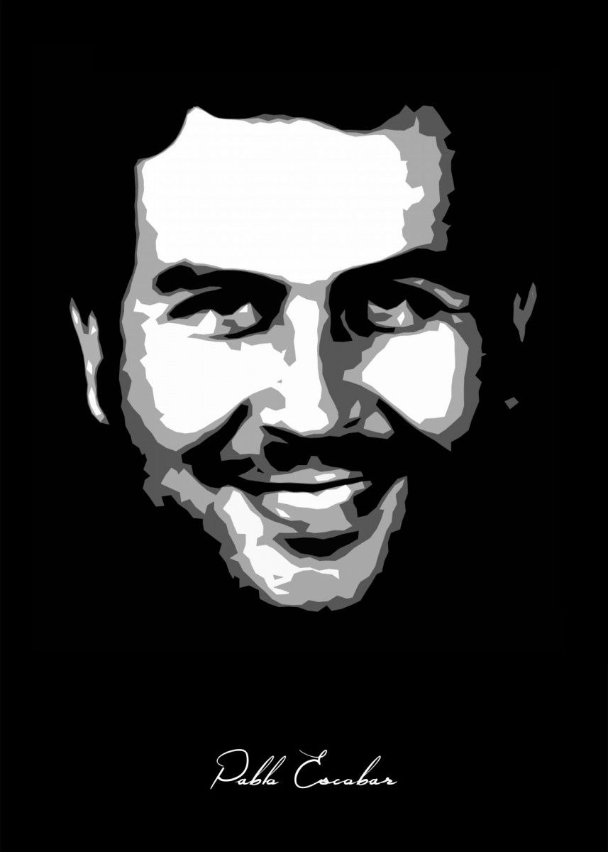 pablo escobar poster by bgw