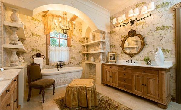 Mediterrane Badezimmer Designs Badewanne Klassisch Warm