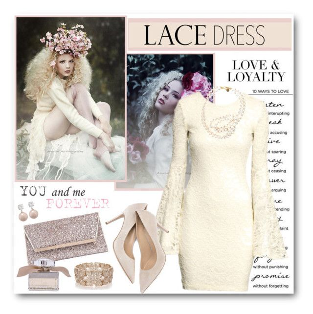 """""""Love, Loyalty and Lace"""" by brendariley-1 ❤ liked on Polyvore featuring H&M, STELLA McCARTNEY, Jimmy Choo, Oasis, Chloé and lacedress"""