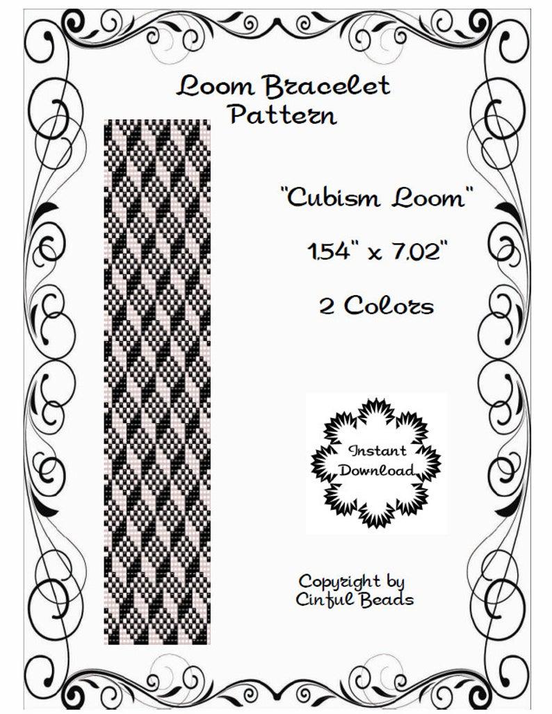 Loom PDF pattern geometric cubism using Miyuki 11/0