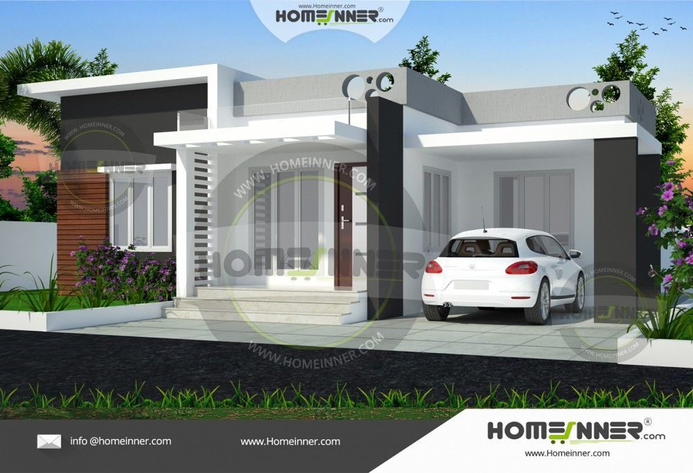 Superb 3 Bedroom Single Storey Budget House Part - 12: Small 3 Bedroom House Plan Is The New Contemporary Style House Design From  Homeinner Design Team.The Small Low Cost 997 Sq Ft Single Floor Home Design  Incl